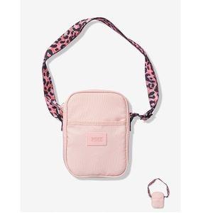 PINK Sport Crossbody Bag Chalk Rose Leopard